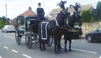 Frisones en los funerales